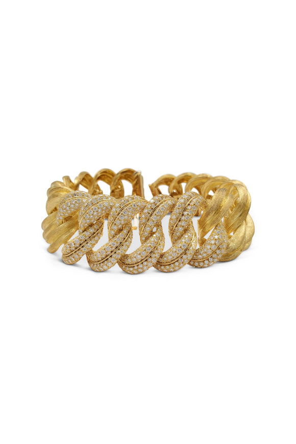 Windsor Jewelers 18K Yellow Gold Henry Dunay Diamond Wide Bracelet