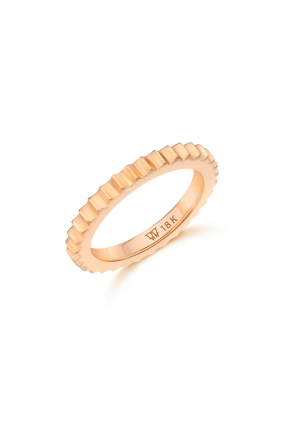 Walters Faith 18K Rose Gold Fluted Band