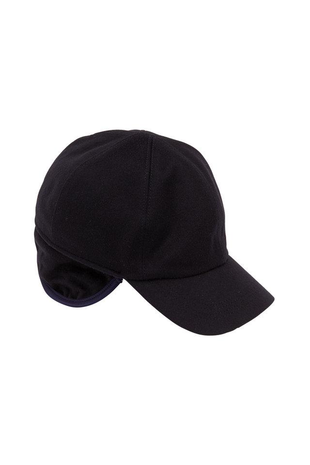 Navy Blue Cashmere Cap