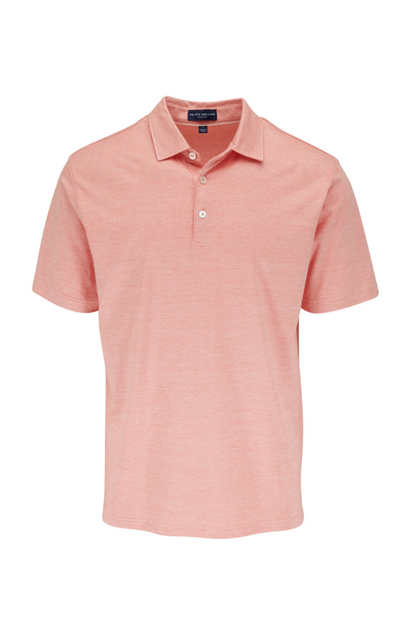 Peter Millar Excursionist Pink Short Sleeve Polo