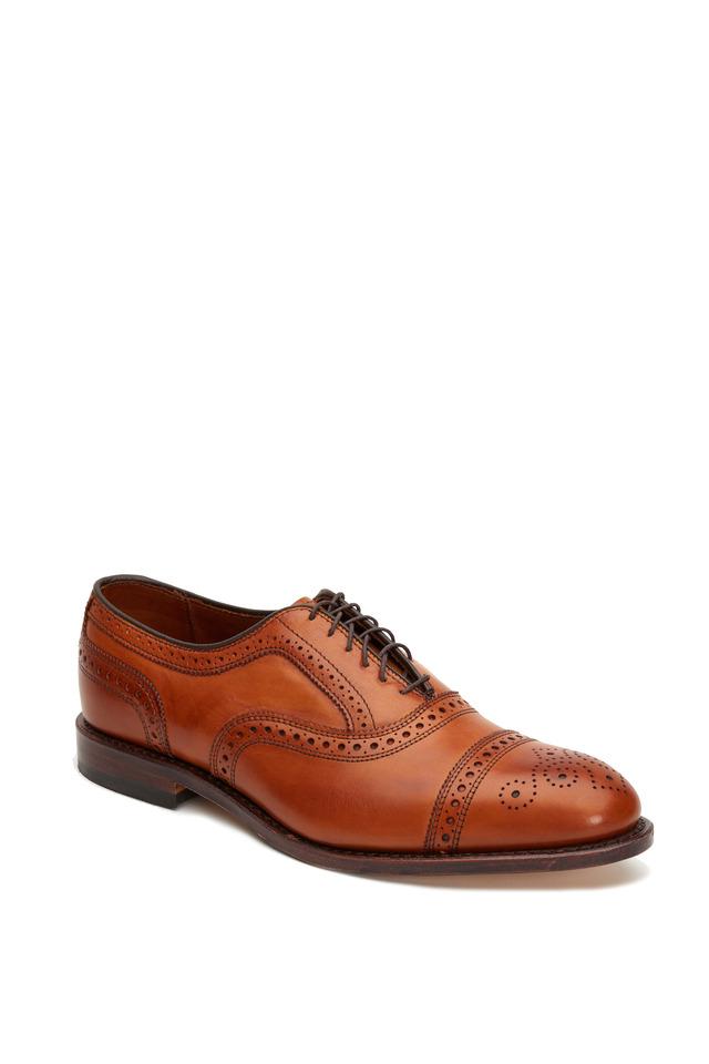 Strand Walnut Leather Cap-Toe Oxford