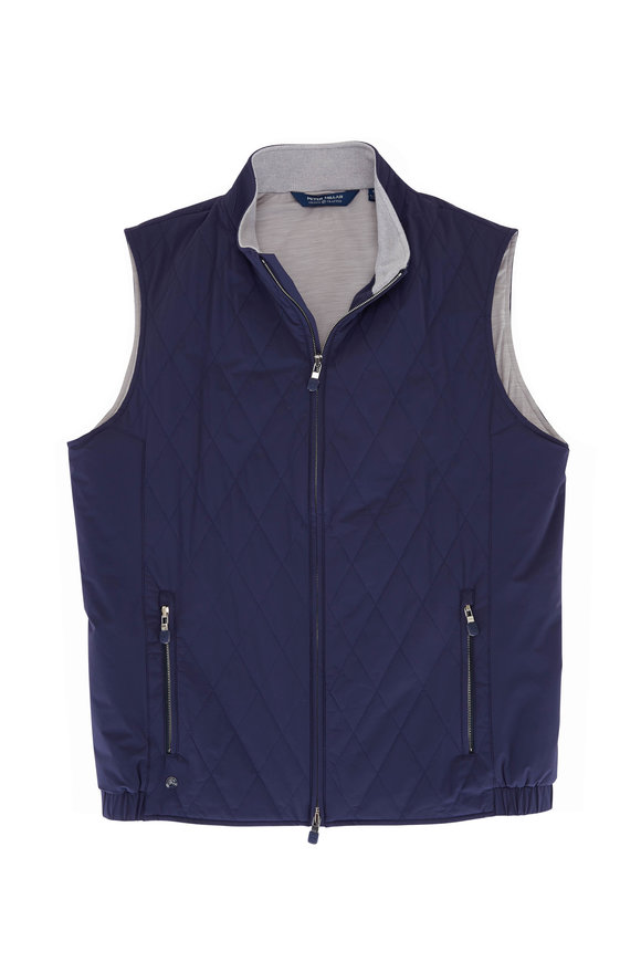 Peter Millar Stealth Navy Quilted Light Vest