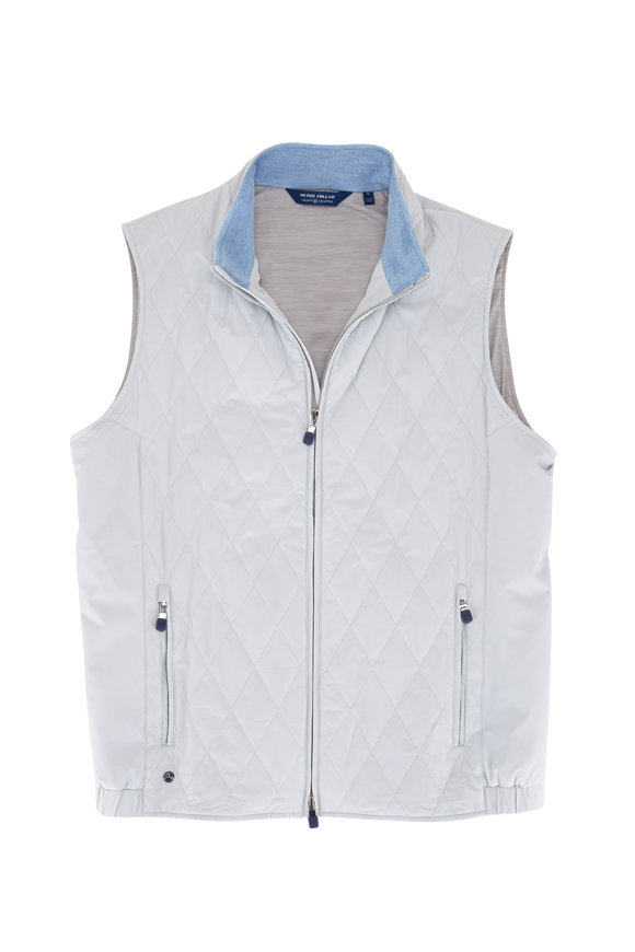 Peter Millar Stealth Gray Quilted Light Vest