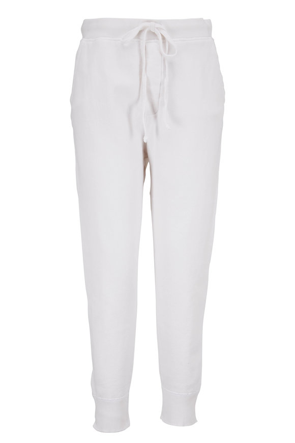 Nili Lotan Nolan Vintage White Drawstring Jogger Pant