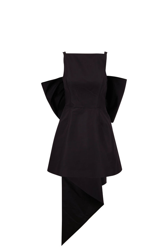 Carolina Herrera Black Mini Dress With Back Bow