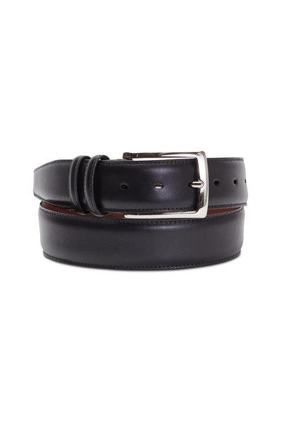 Torino - Black Venetian Calf Leather Belt