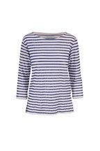 Majestic - Navy & White Metallic Stripe T-Shirt