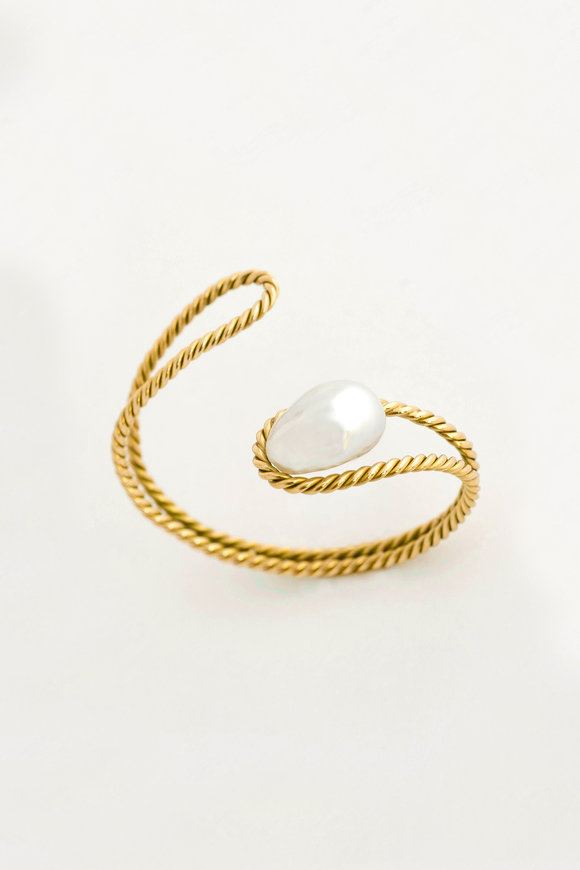 Haute Victoire 18K Yellow Gold Baroque Pearl Bracelet