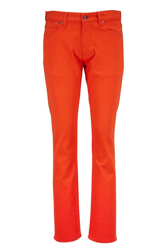 Ralph Lauren Orange Five Pocket Slim Fit Jean