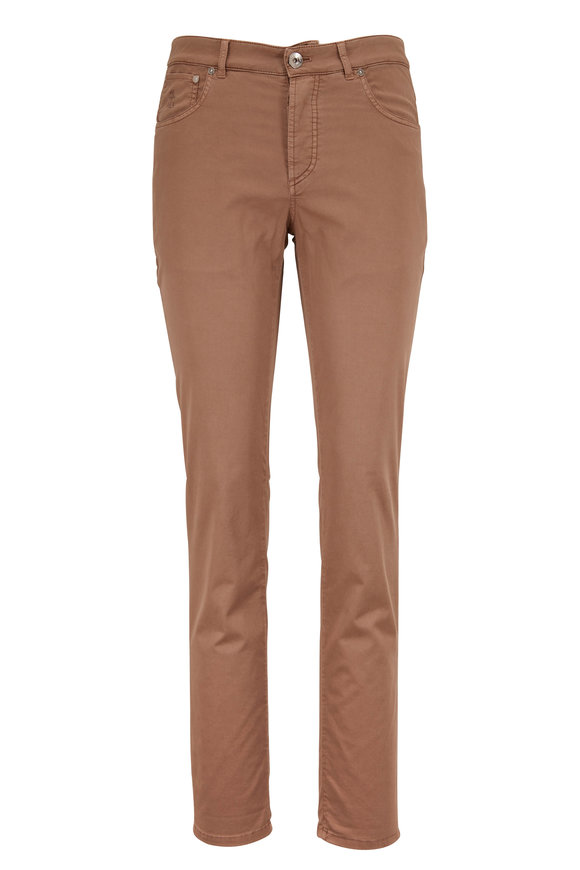 Brunello Cucinelli Brown Five Pocket Pant