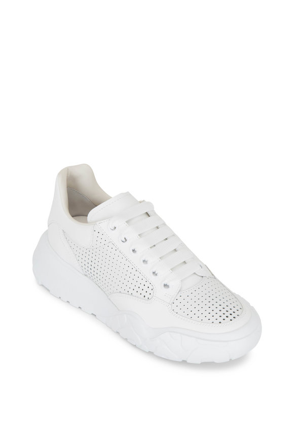 Alexander McQueen White Leather Performance Running Sneaker
