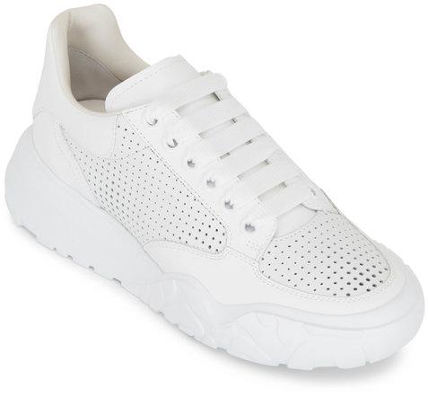 Alexander McQueen White Leather Performance Running Sneaker