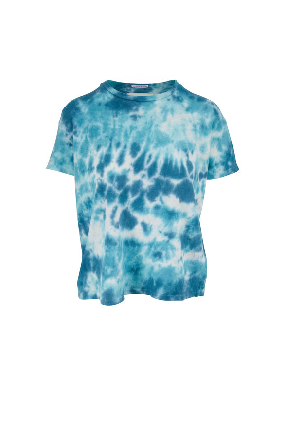 Mother Denim Turquoise The High Sparrow Tie Dye T-Shirt