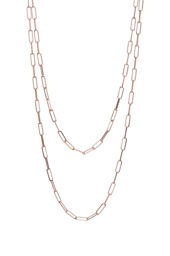 Genevieve Lau 14K Rose Gold Rectangle Link Chain