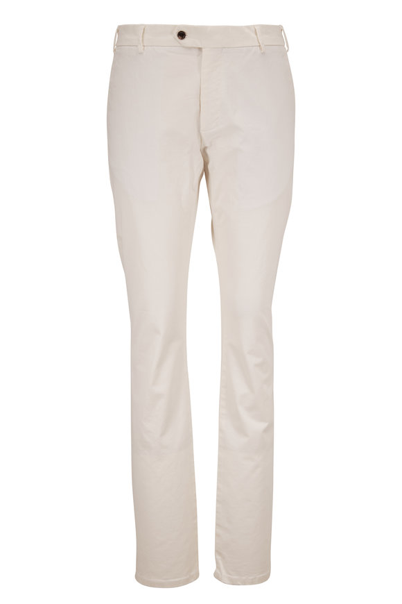 Peter Millar Concord White Flat Front Pant