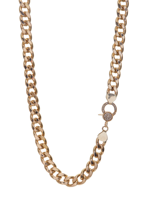 Genevieve Lau 14K Yellow Gold Diamond Clasp Chain Necklace