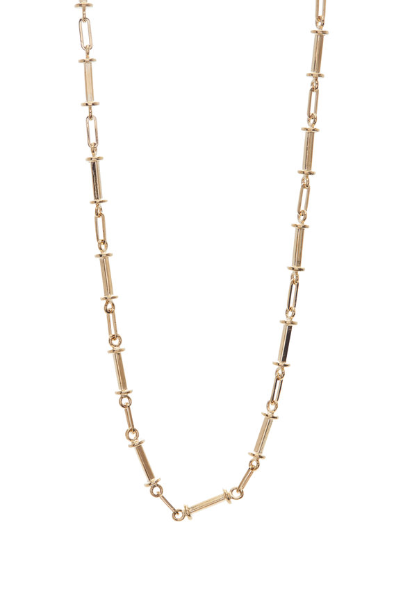 Genevieve Lau 14K Yellow Gold Bar Chain Necklace