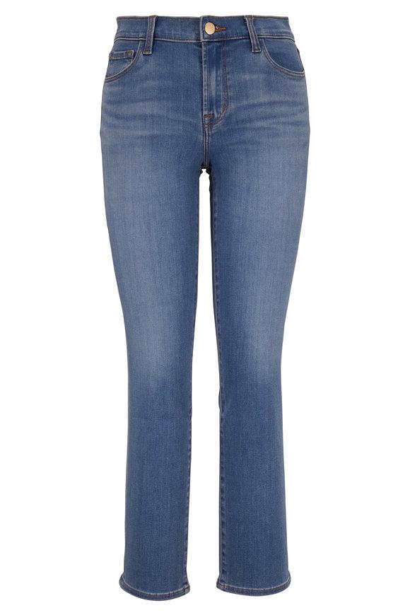 J Brand Adele Earthen Mid-Rise Straight Leg Jean