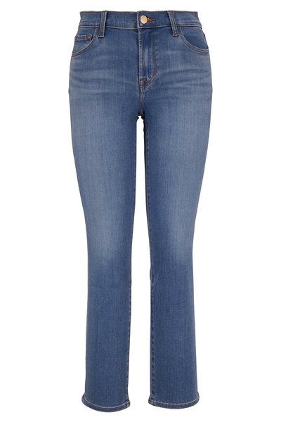 J Brand - Adele Earthen Mid-Rise Straight Leg Jean