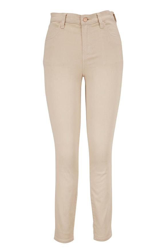 J Brand Alana Khaki High-Rise Cropped Skinny Jean