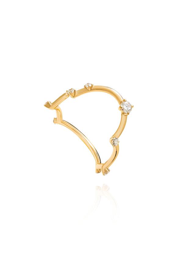 Fernando Jorge 18K Yellow Gold Diamond Acrobat Ring
