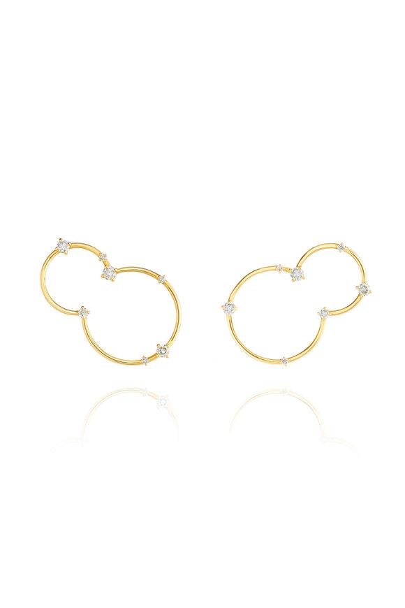 Fernando Jorge 18K Yellow Gold Diamond Acrobat Earrings