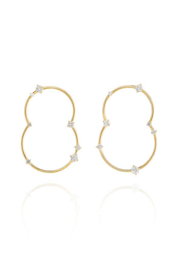 Fernando Jorge 18K Yellow Gold Diamond Acrobat Duo Earrings