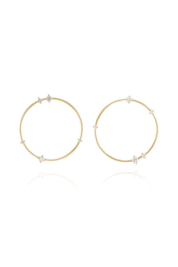 Fernando Jorge 18K Yellow Gold Diamond Solo Earrings