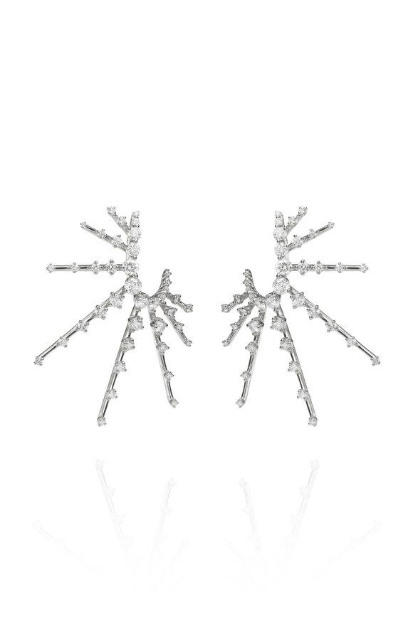 Fernando Jorge 18K White Gold Diamond Radiant Earrings