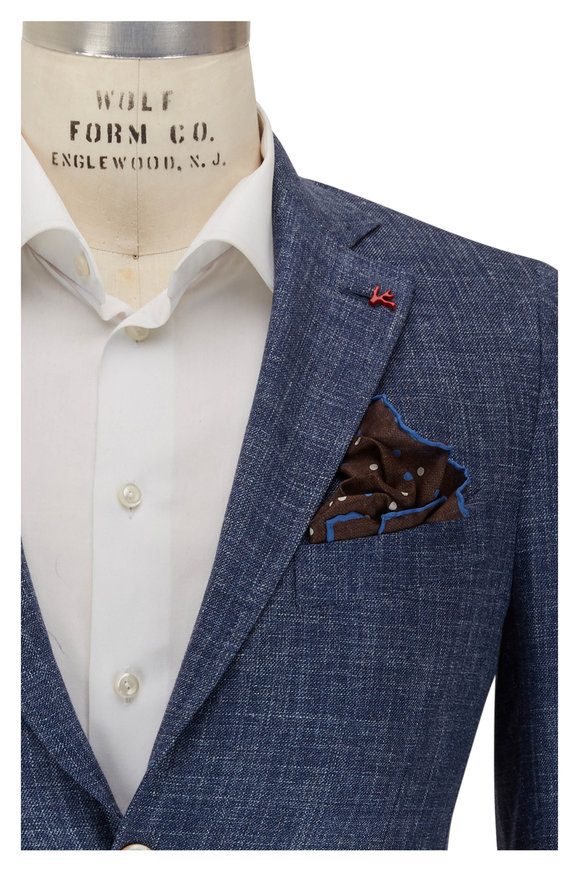 Isaia Denim Textured Sport Coat