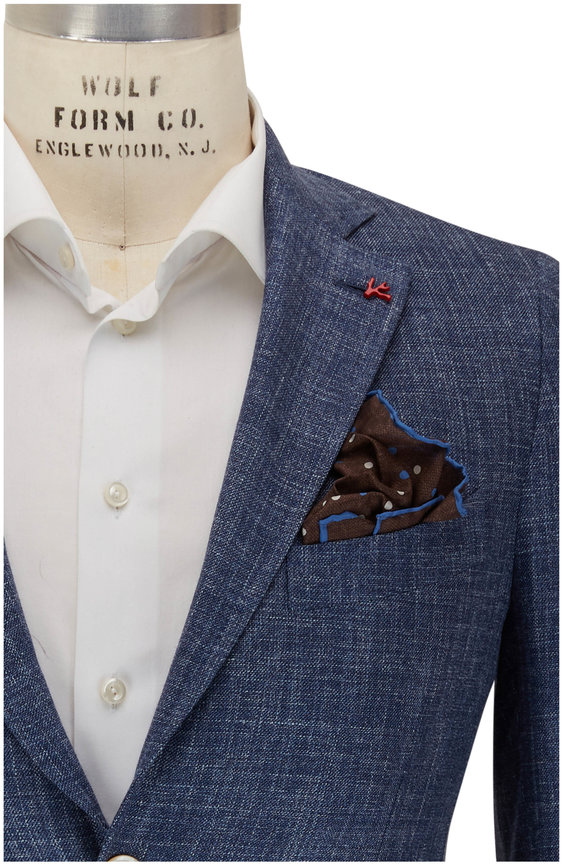 Isaia Denim Textured Sport Coat