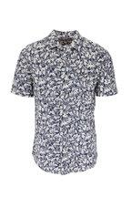 Faherty Brand - Avalinas Blue Short Sleeve Knit Sportshirt