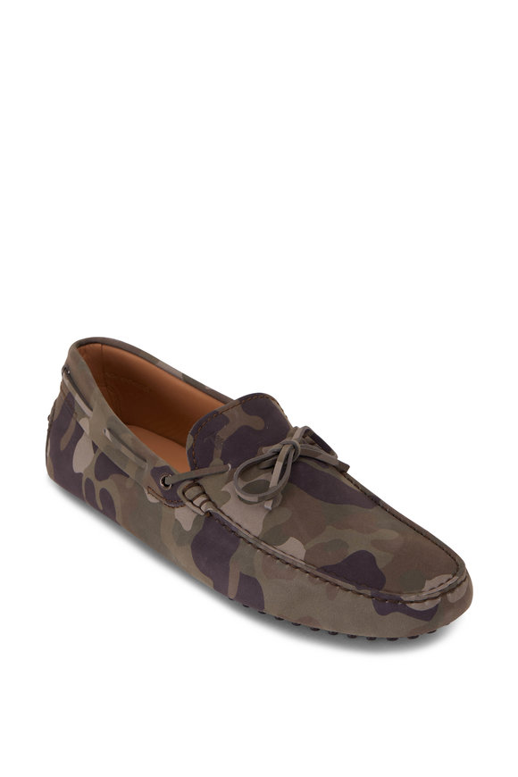 Tod's Gommino Green Camouflage Loafer