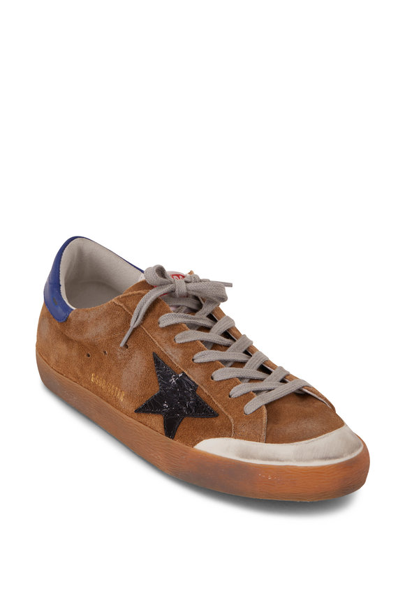 Golden Goose Superstar Distressed Brown Low Top Sneaker