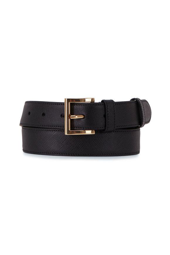 Prada Black Saffiano Leather Belt