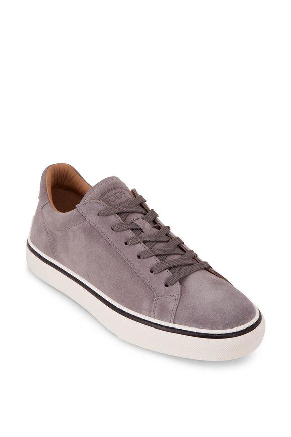 Tod's Cassetta Gray Suede Sneaker