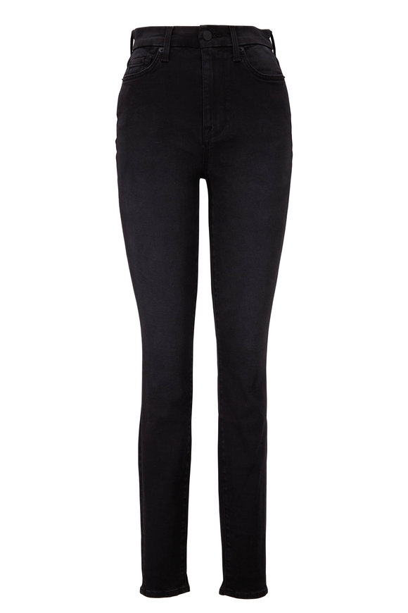 7 For All Mankind Essex Black Slim Illusion High-Rise Jean