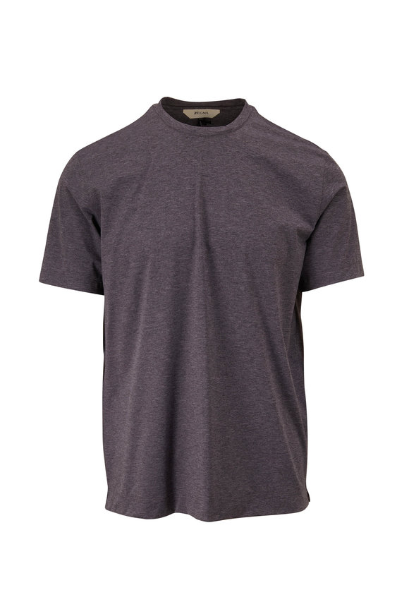 Z Zegna Gravity Gray Mélange T-Shirt