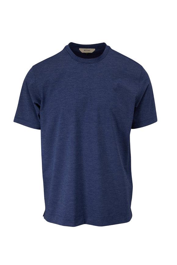 Z Zegna Gravity Blue Mélange T-Shirt