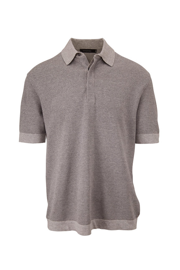 Ermenegildo Zegna Gray Short Sleeve Polo