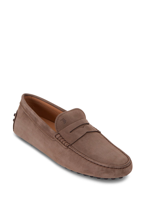Tod's Gommino Sand Nubuck Penny Loafer
