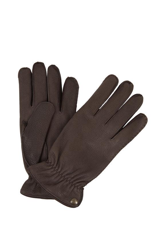 Labonia Dark Brown Deerskin Gloves