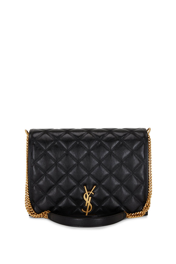 Saint Laurent Becky Black Quilted Leather Small Chain Bag