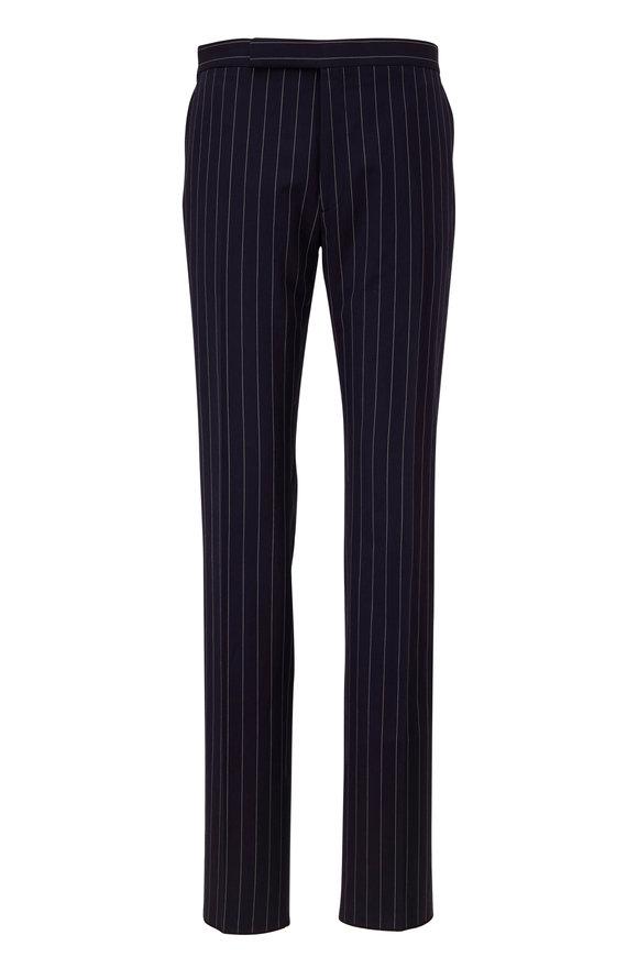 Ralph Lauren Navy & Cream Stripe Linen Pants