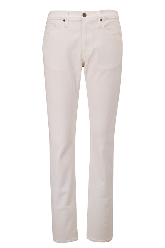 Frame L'Homme Whisper White Slim Fit Mid-Rise Jean