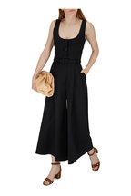Carolina Herrera - Black Stretch Cotton Scoopneck Jumpsuit