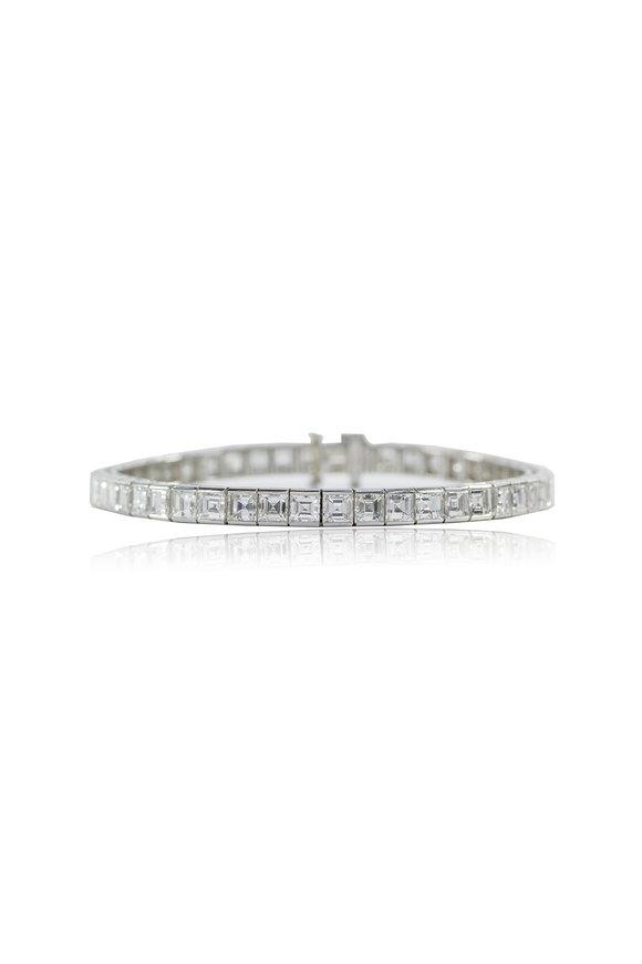 Oscar Heyman Platinum Diamond Line Bracelet