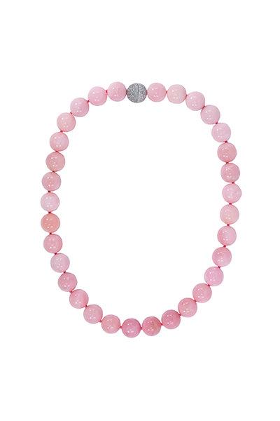 Oscar Heyman - Platinum Pink Opal & Diamond Necklace