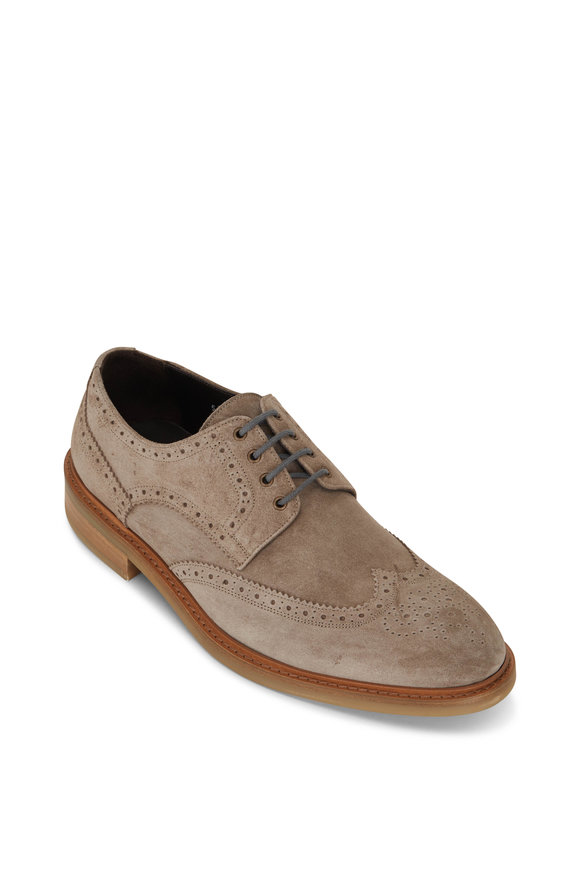 To Boot New York Jennings Sand Suede Wingtip