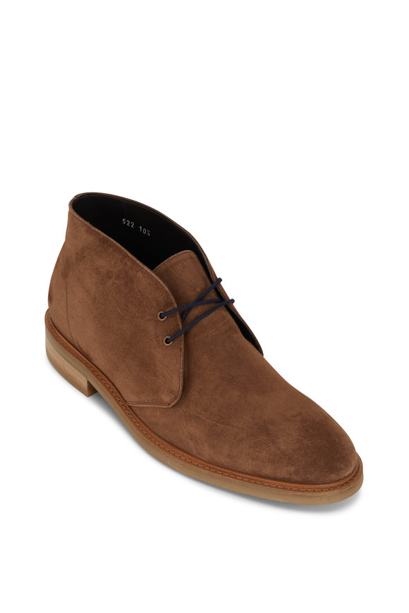To Boot New York Zach Medium Brown Suede Lace Up Chukka Boot